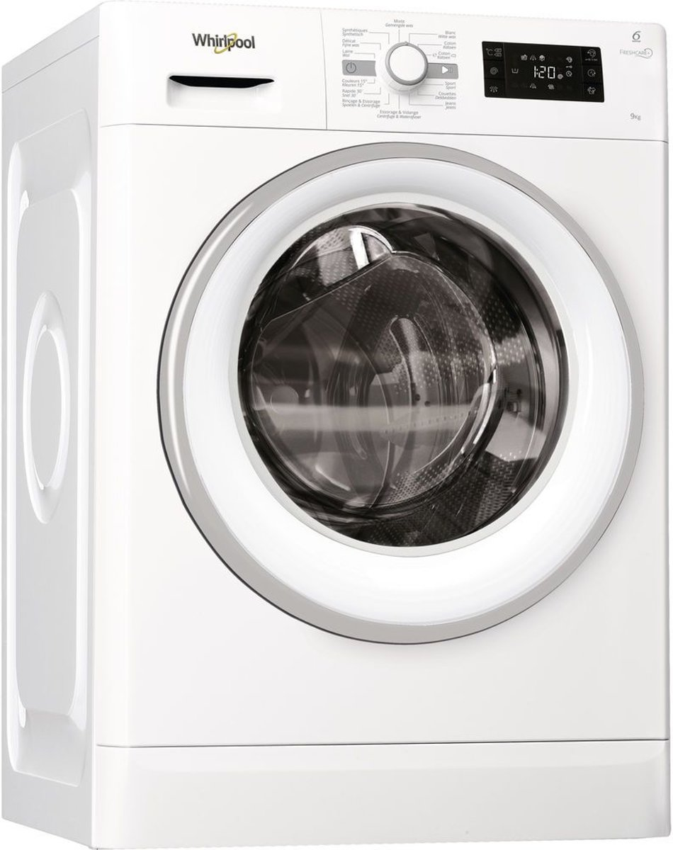 Whirlpool FWGBE91484WSE wasmachine Vrijstaand Voorbelading Wit 9 kg 1400 RPM A+++