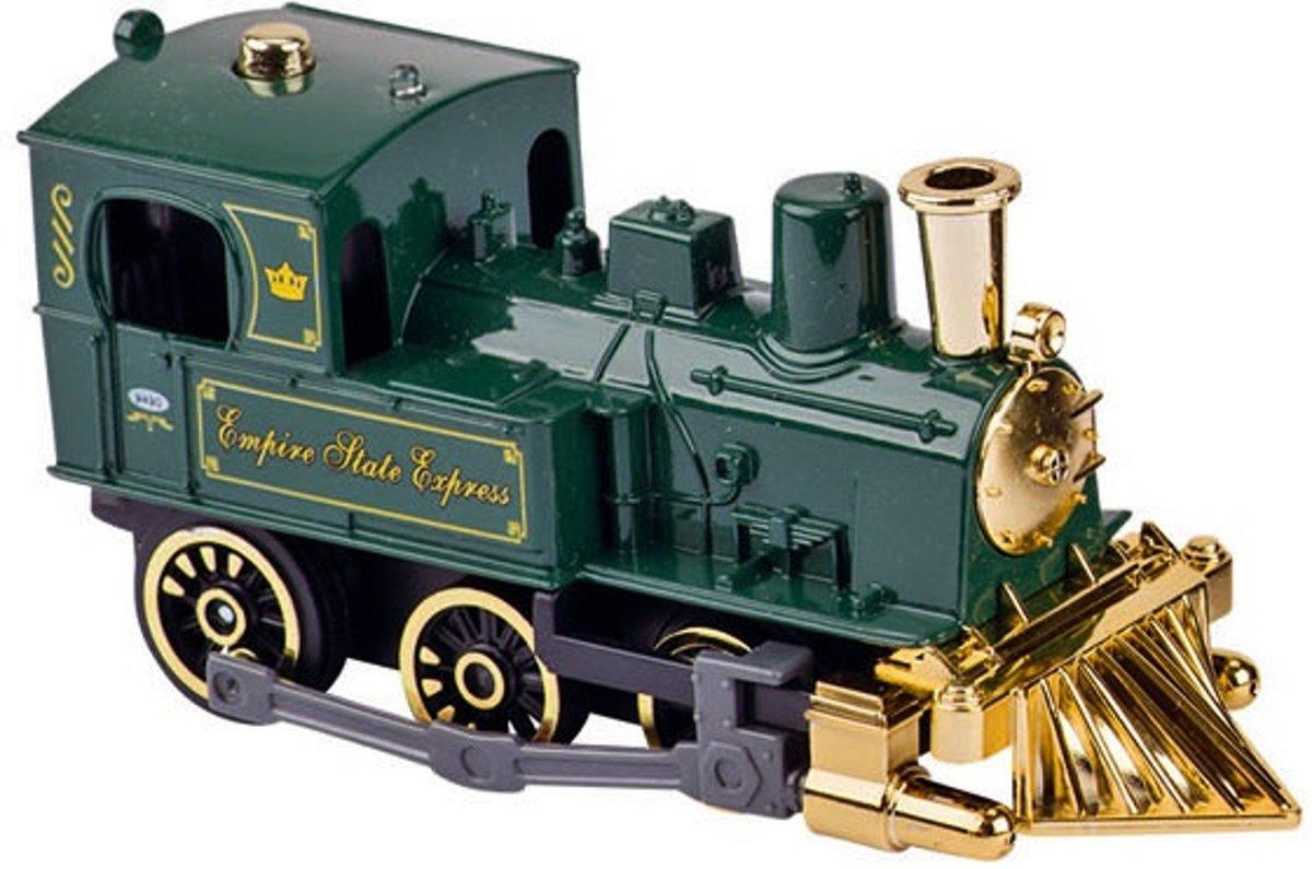Goki Metalen Klassieke Locomotief Met Geluid: 14 Cm Groen