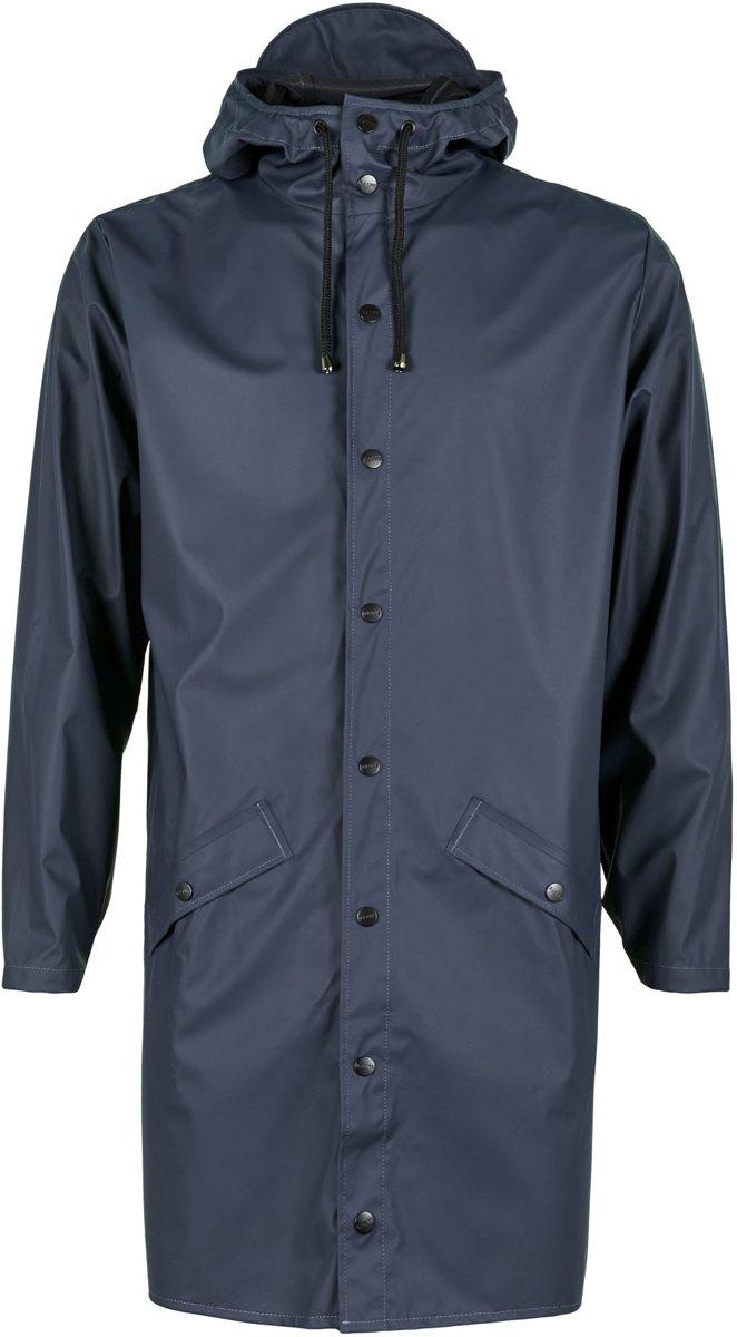 Rains Long Jacket 1202 Regenjas - Unisex - blauw