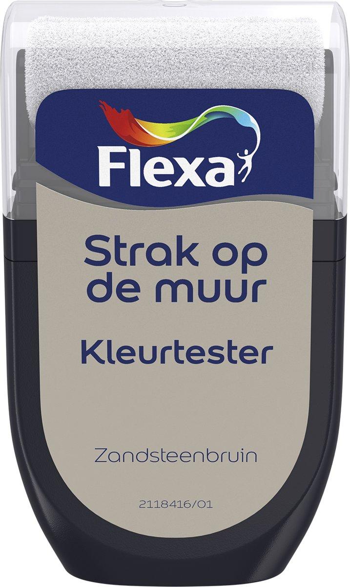 Flexa Strak op de Muur Tester- Watergedragen - Mat - zandsteenbruin - 0,3 liter kopen
