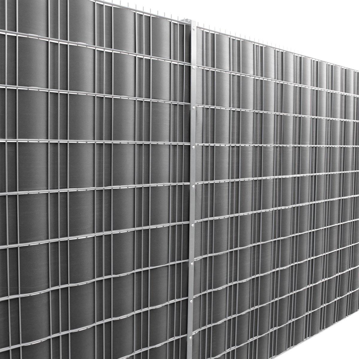 Privacyfolie voor hek - tuinscherm - 35m - 19cm breed - Grijs kopen