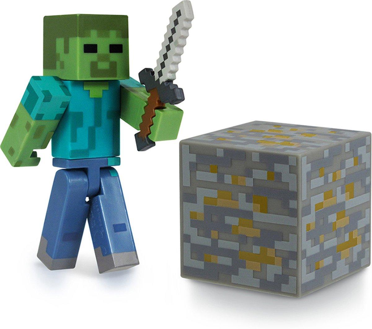 Speelfiguur Minecraft Zombie Met Accessoire
