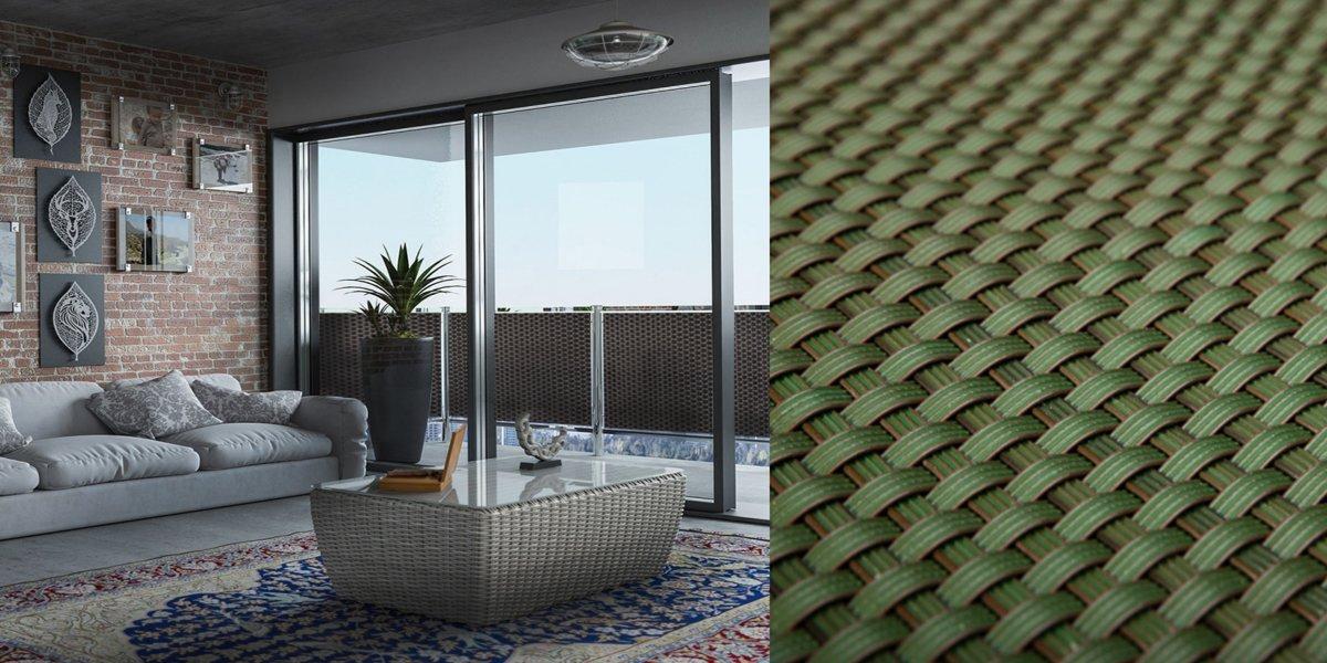 Onverwoestbaar Balkonscherm - 90 cm hoog - duurzaam & eenvoudige montage - 20 meter lange balkonafscheiding - PERFECT BALKONSCHERM© groen kopen