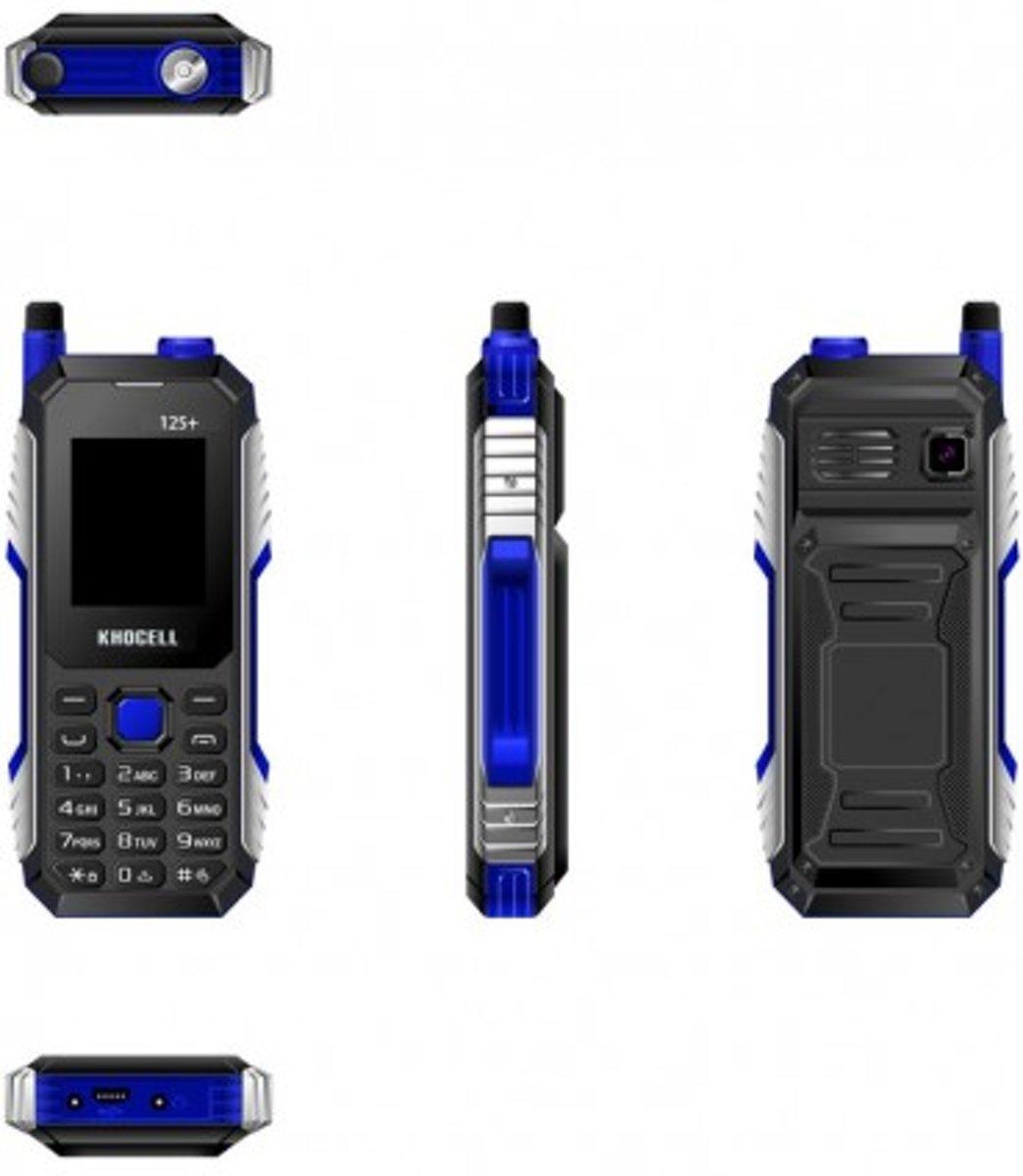 KhoCell 11s+ Blauw Inclusief Lebara simkaart met  €30,- beltegoed* + gratis 3-1 data kabel kopen