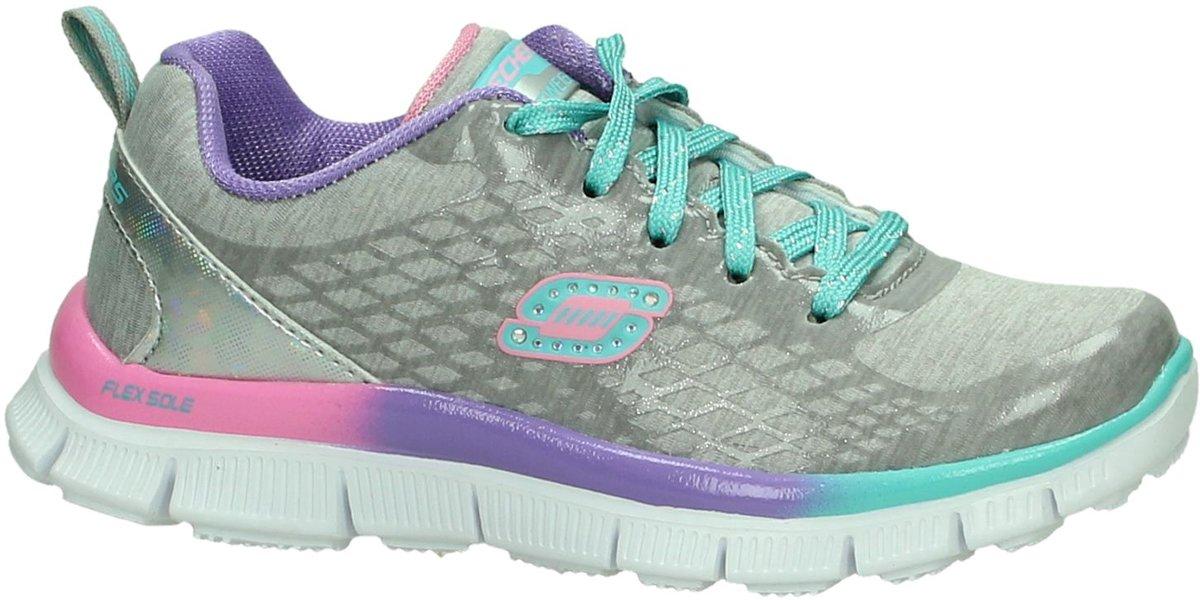 dee4b8dda0a bol.com   Skechers 81862l - Sneakers - Meisjes - Maat 28 - Grijs