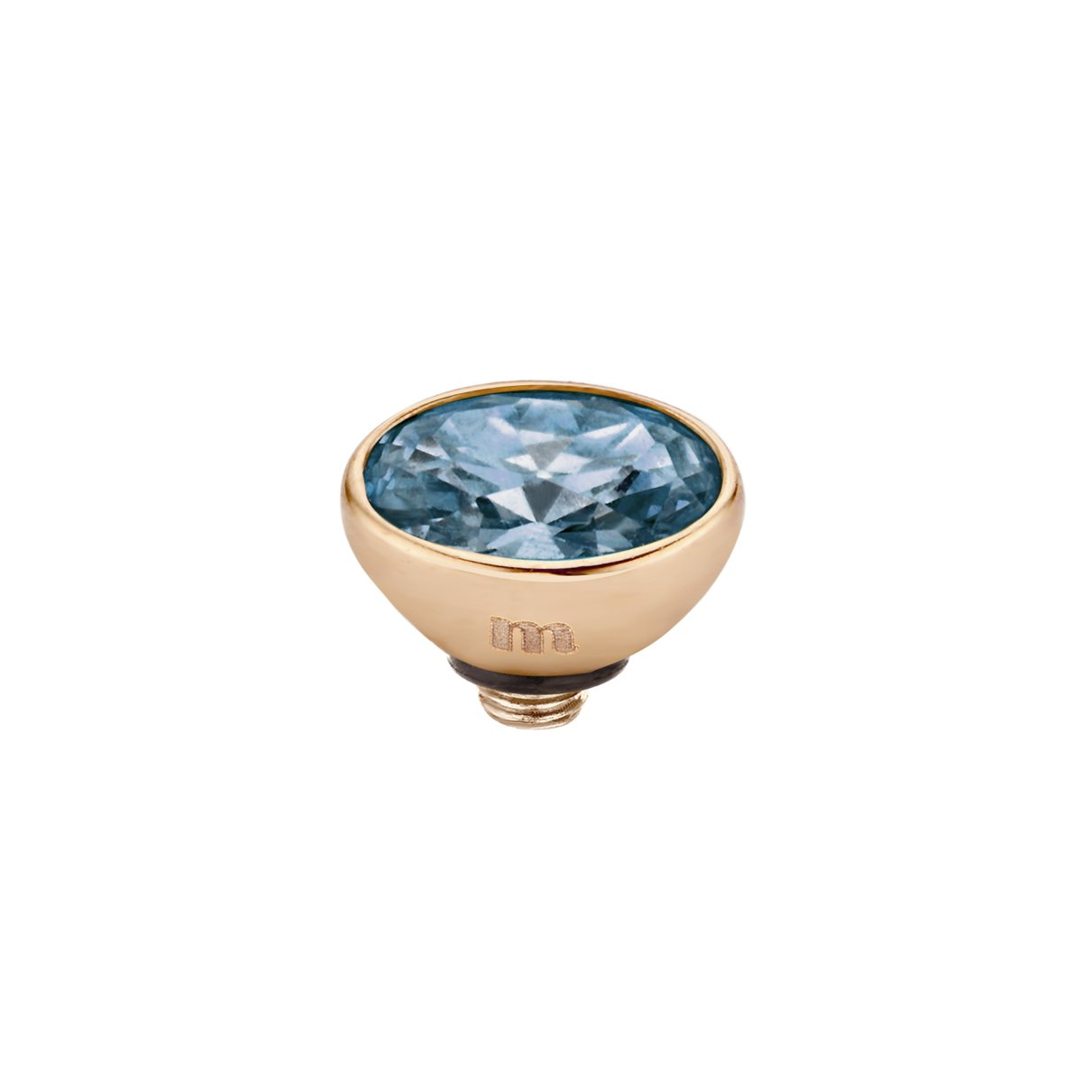 Melano twisted oval cz steentje - midnight - dames - rosekleurig - 5mm kopen
