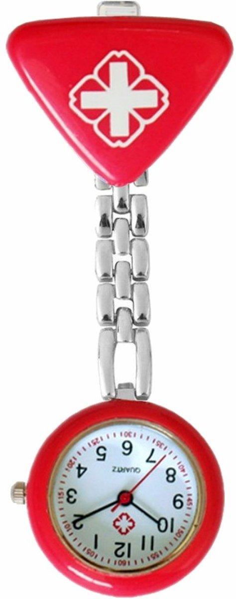 Fako Bijoux® - Verpleegstershorloge - Driehoek - Rood kopen