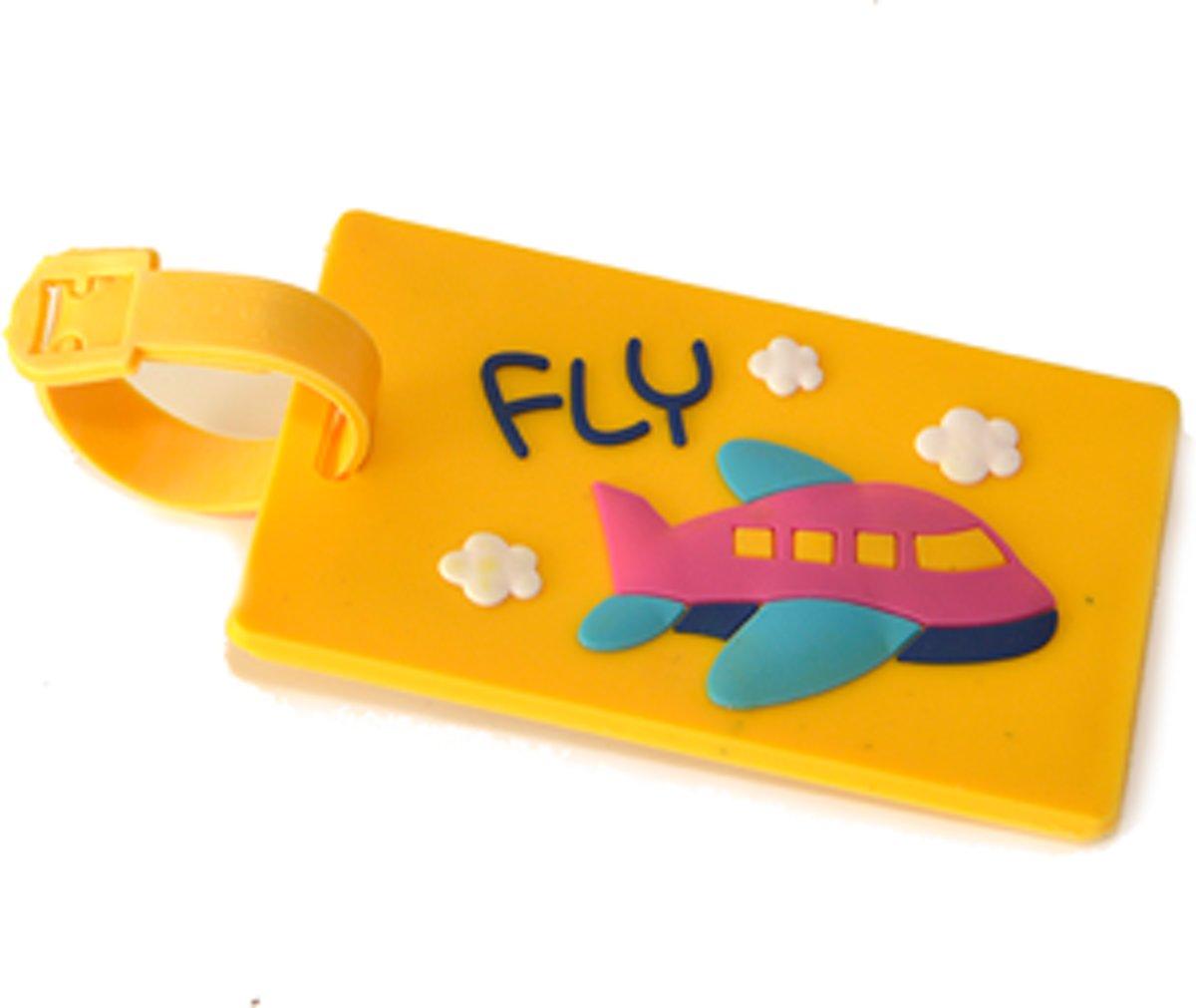 Kofferlabel / Bagagelabel 3D rubber FLY met QR-code kopen
