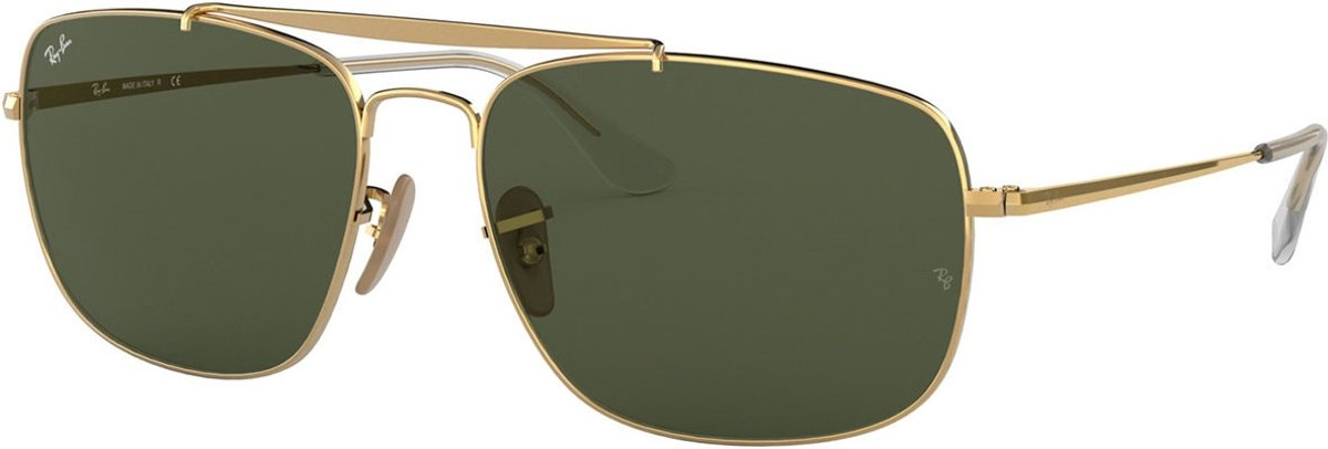 Ray-Ban RayBan The Colonel zonnebril - goud montuur met groene G-15 lenzen - 61 mm - RB3560 001 61-17