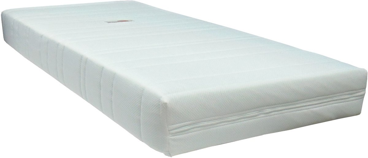 Slaaploods.nl Ramona - Pocketvering Matras - Comfortschuim Afdeklaag - 90x200 cm - Hard