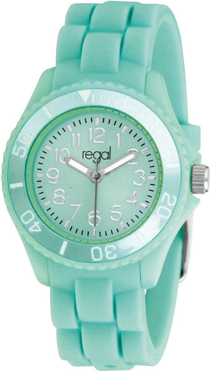 Regal Meisjeshorloge R0620-414 - Horloge - 32 mm - Siliconen - Groen kopen