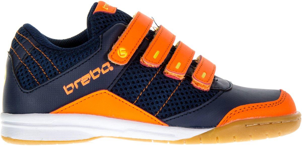 f3e147c980d bol.com | Brabo Indoor - Zaalhockeyschoen Leer - Junior - Navy, Oranje,  Lime - Maat 30
