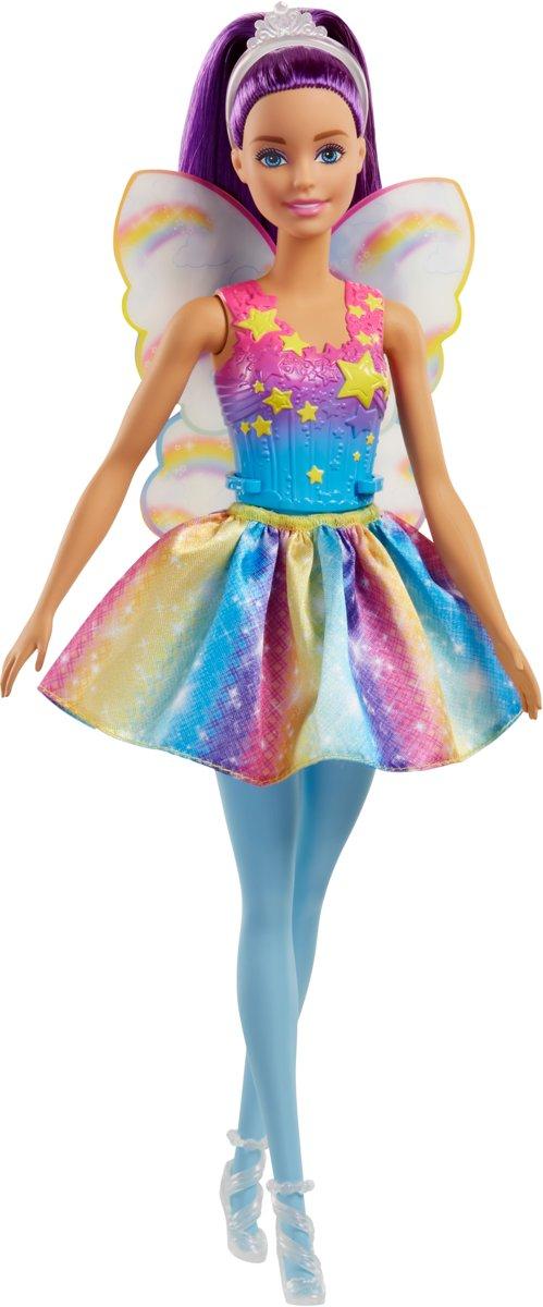 Barbie Dreamtopia Regenboog Fee Paars Haar - Barbiepop