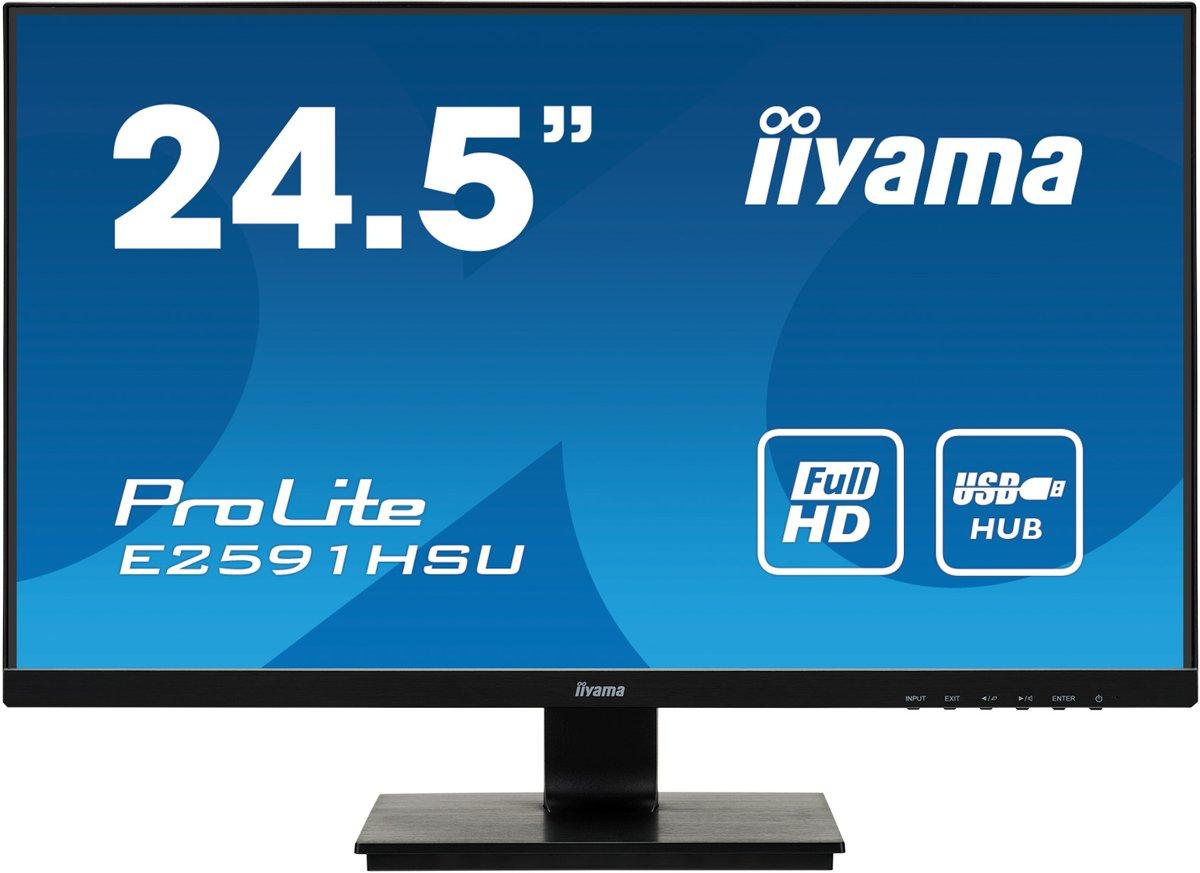 Iiyama ProLite E2591HSU-B1 - Gaming Monitor - 24.5 Inch (75Hz)