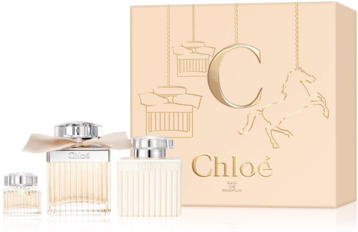 Chloe Signature SET Eau de parfum spray 75ml + perfumed water miniature spray 5ml + body lotion 100ml