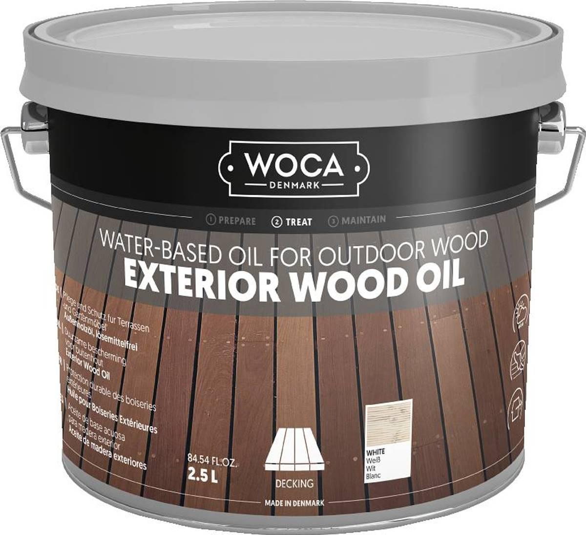 WOCA Exterior Oil WIT - 2,5 liter kopen