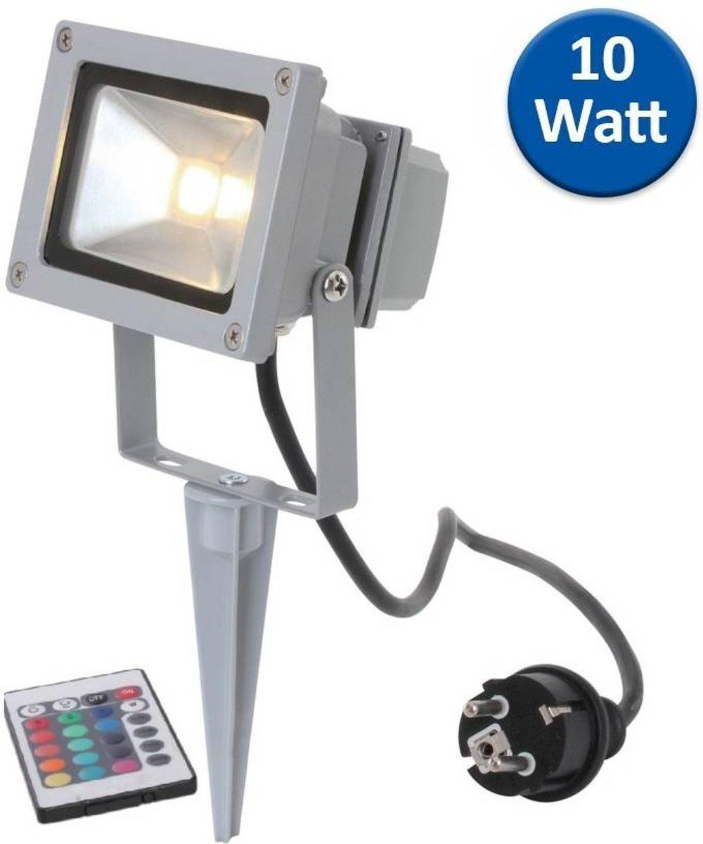 Hofftech LED Buitenlamp - 10 watt RGB & Afstandbediening - RVS kopen