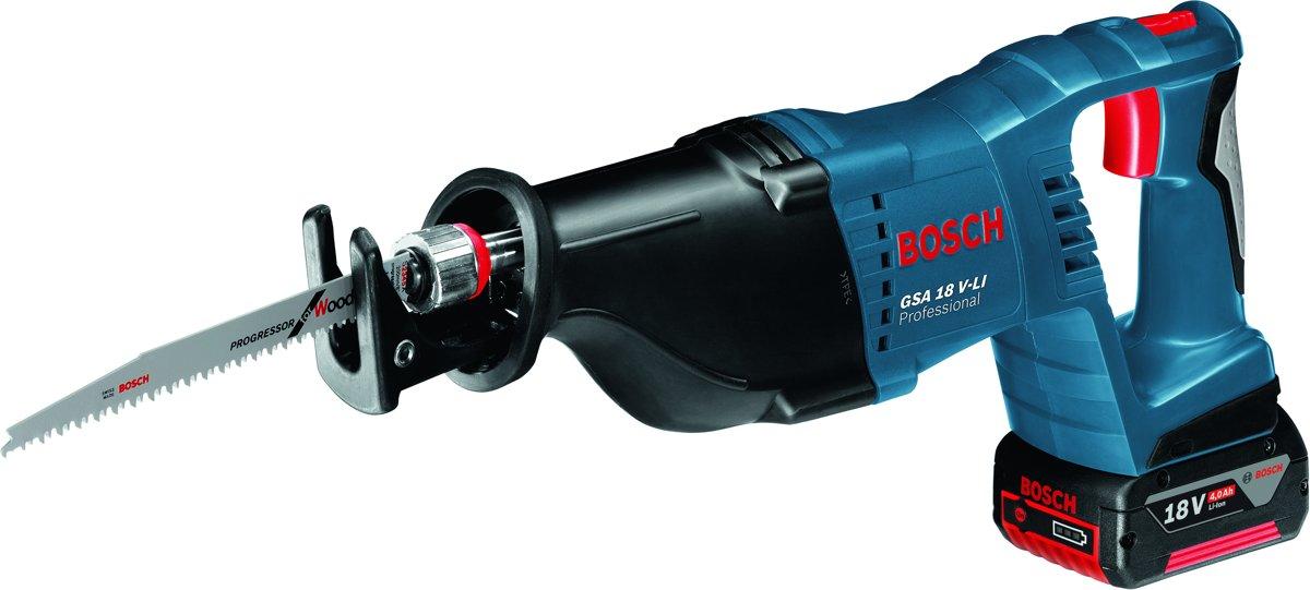 Bosch Professional GSA 18 V-LI Accu reciprozaag - Met 2x 5,0Ah accu's, 1880 CV snellader en L-BOXX