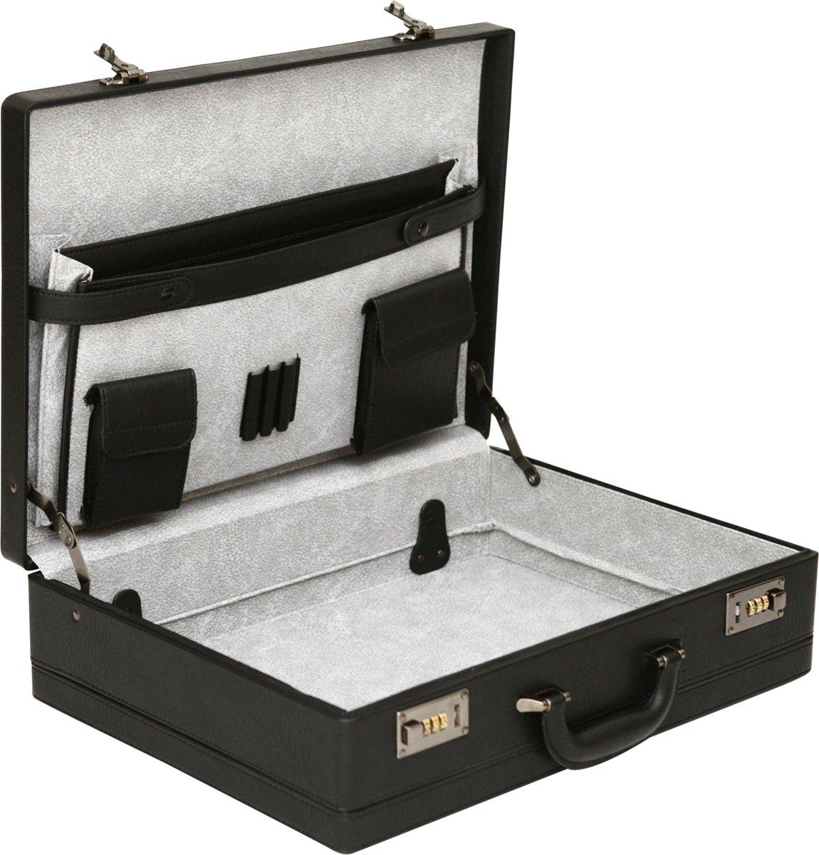 Tassia Grote Attachékoffer - 35.6 x 48.2 x 13.5 cm - Zwart - (509) kopen