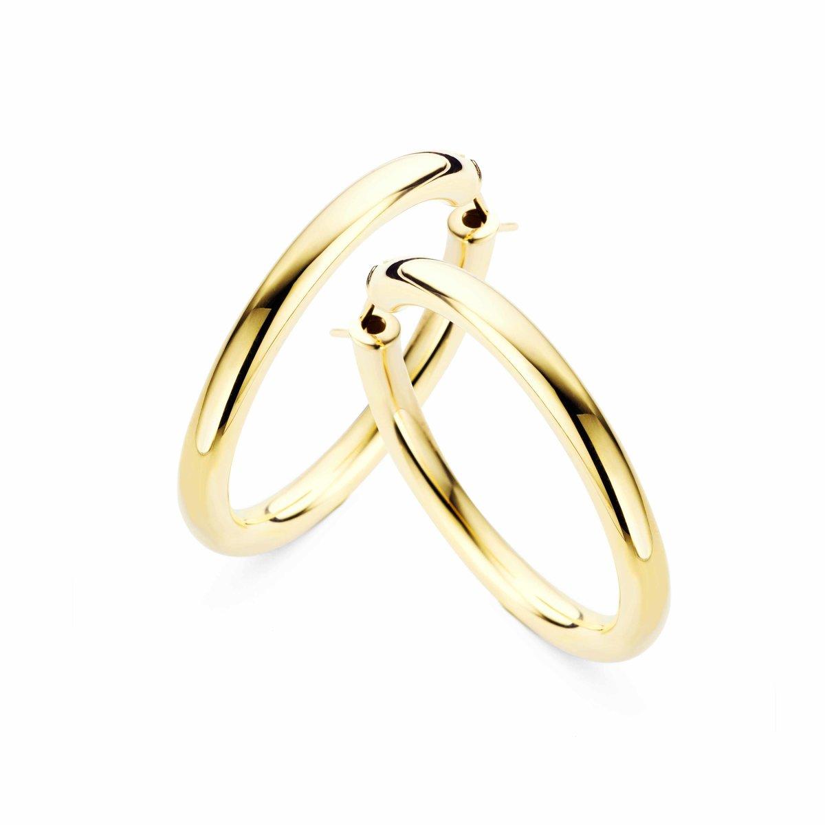Casa Jewelry Oorringen Pirelli 30 - Goud Verguld kopen