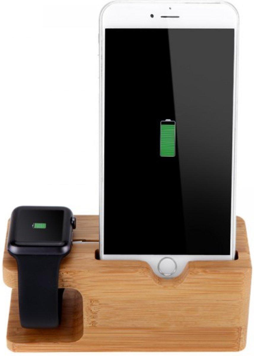 Apple Watch 42mm 38mm en iPhone hout dock docking station kopen