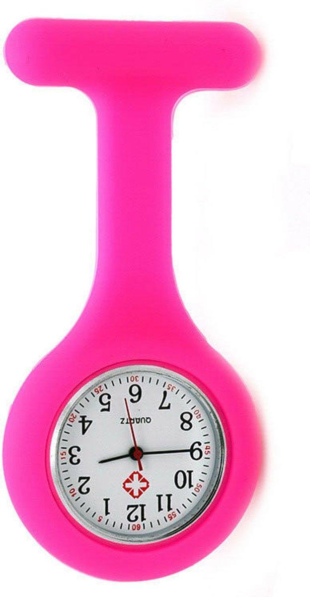 Treasure Trove® Siliconen Verpleegstershorloge Felroze - Verpleegkundige / Zuster Horloge kopen