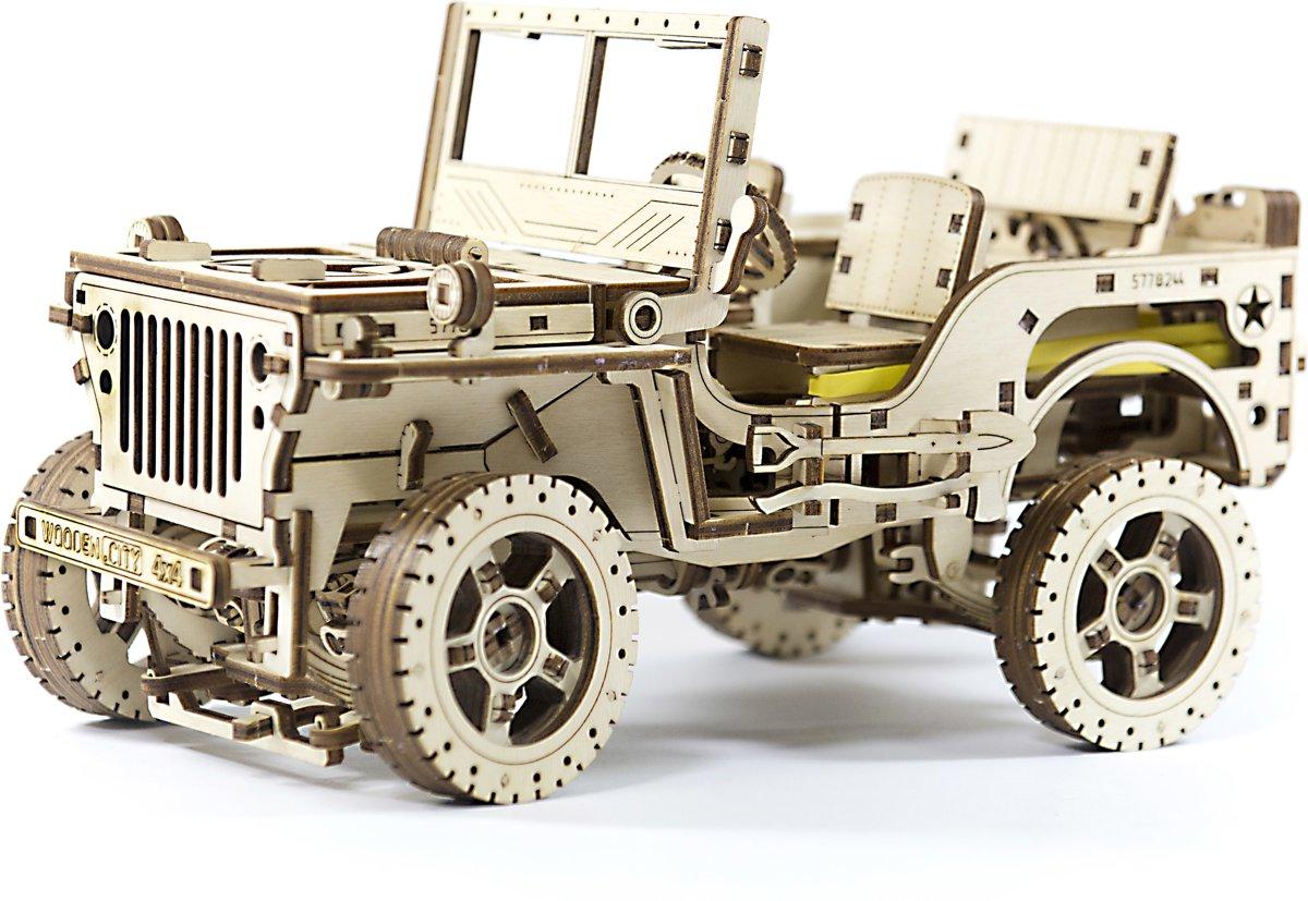 Wooden City Modelbouw Hout Jeep kopen