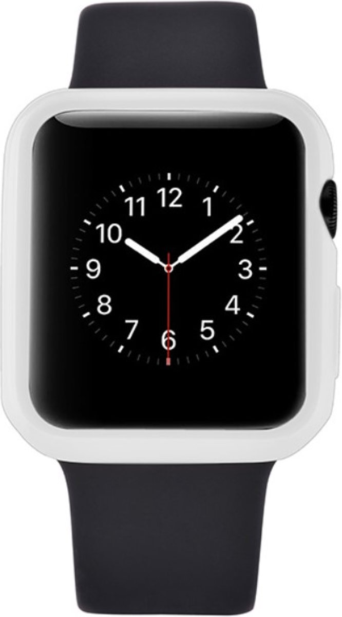 Case Cover Ultra-thin 0.7mm Soft TPU Shell voor Apple Watch Series 1 / 2 / 3 (38mm) - Wit kopen