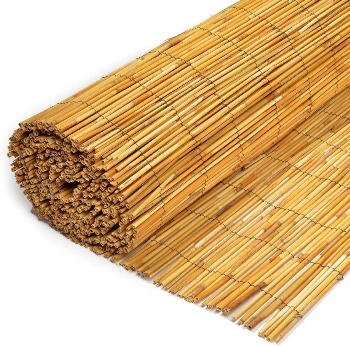 Rietmat van gepeld riet 150 x 500 cm I Rietmatten kopen