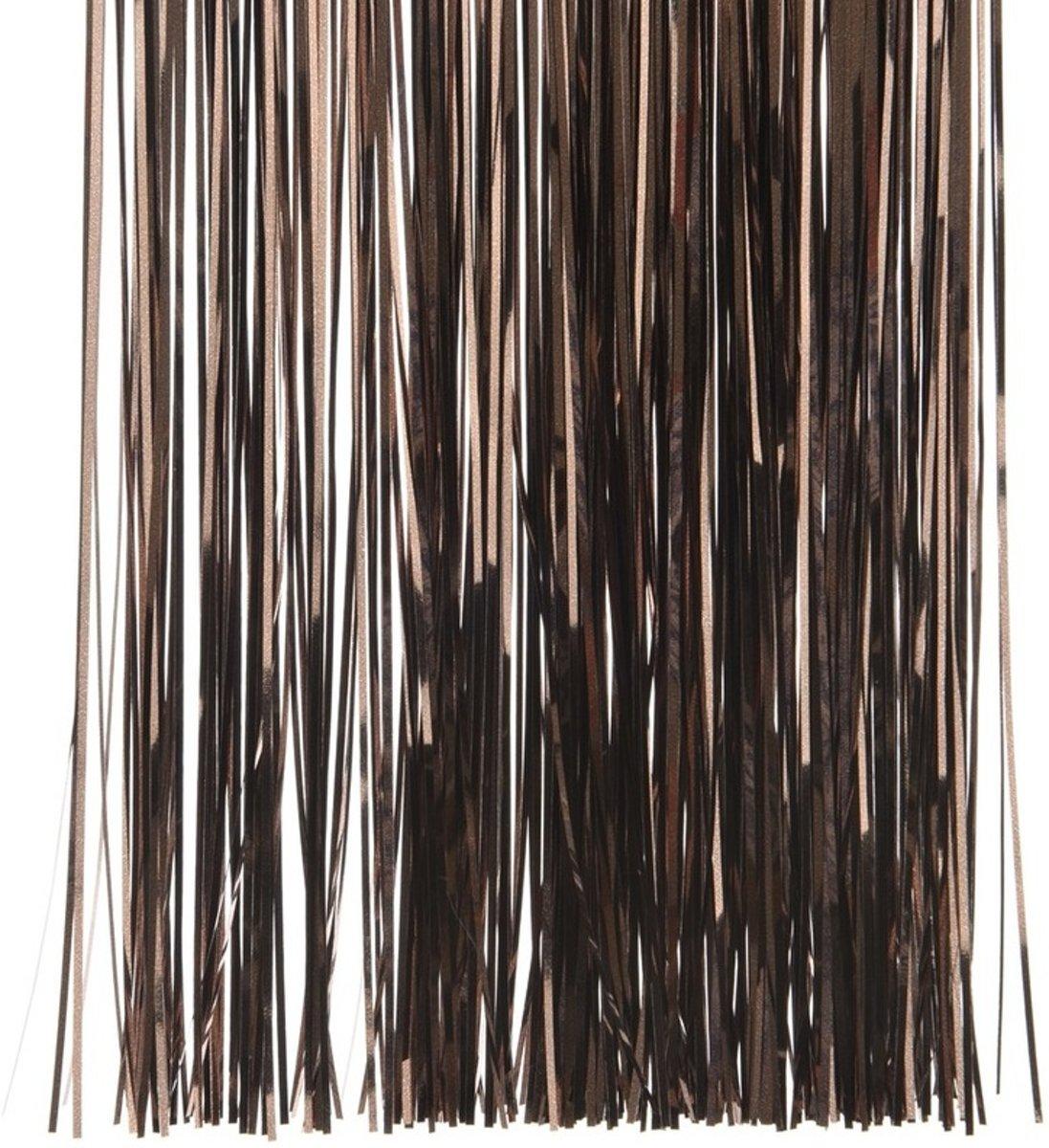 Donker bruine kerstversiering folie slierten 50 cm kopen