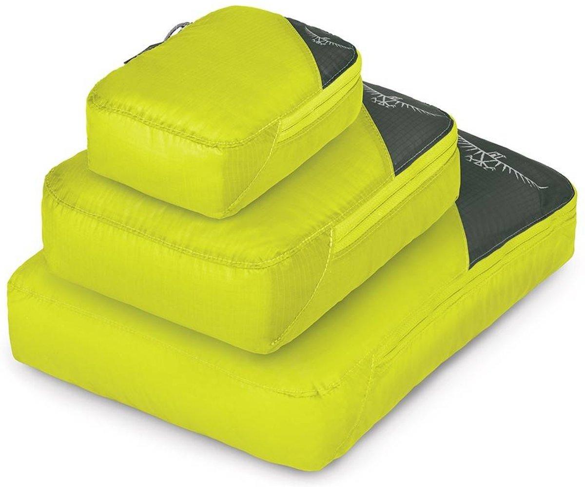 Osprey Packing cube set van 3 - Electric Lime kopen