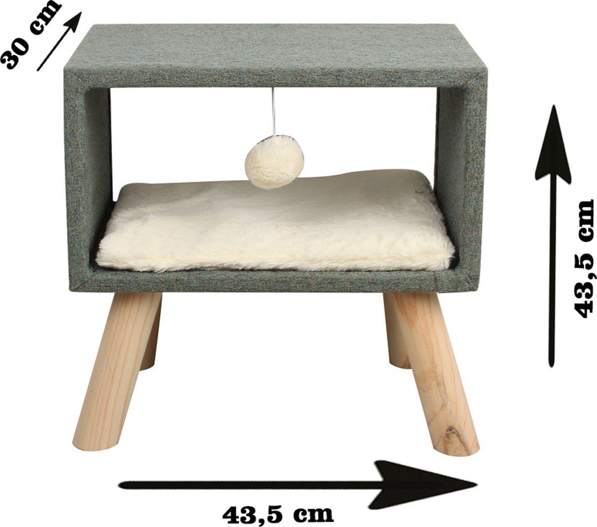 Adori Kattenmeubel Saar 43.5x30x43.5 cm Groen Wit