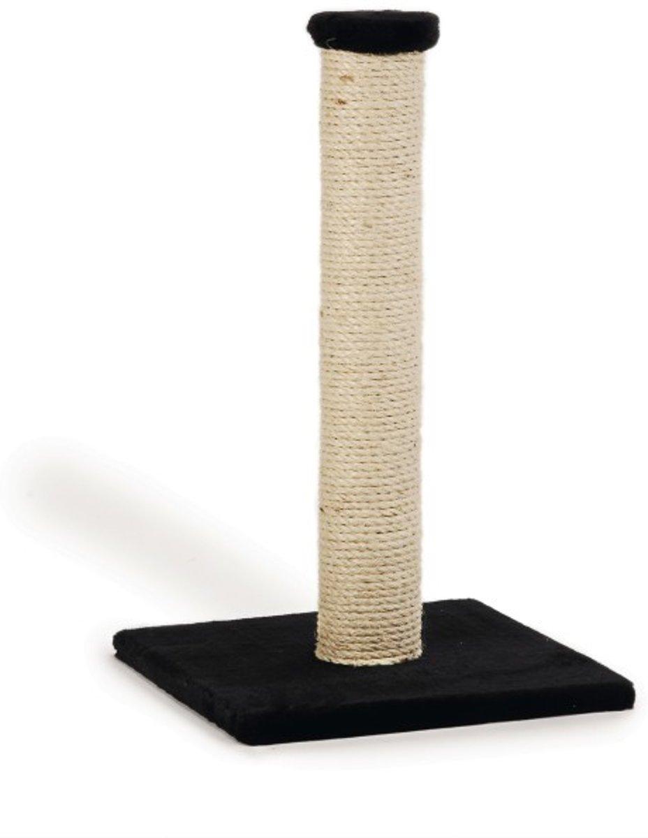 Beeztees Krabpaal Gina - 34 x 34 x 60 cm - Zwart - Met voetprint