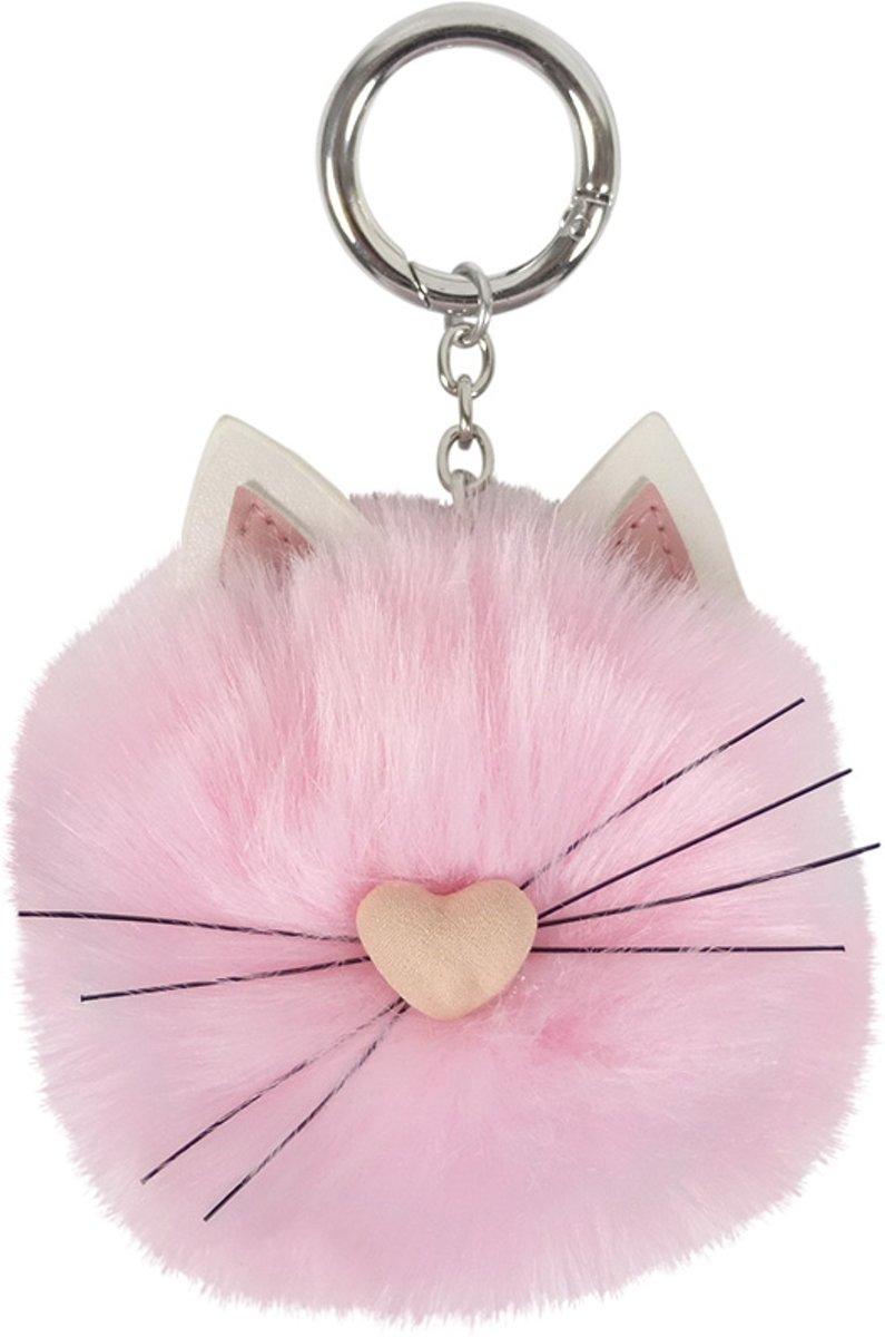 Sleutelhanger tashanger kat roze kopen