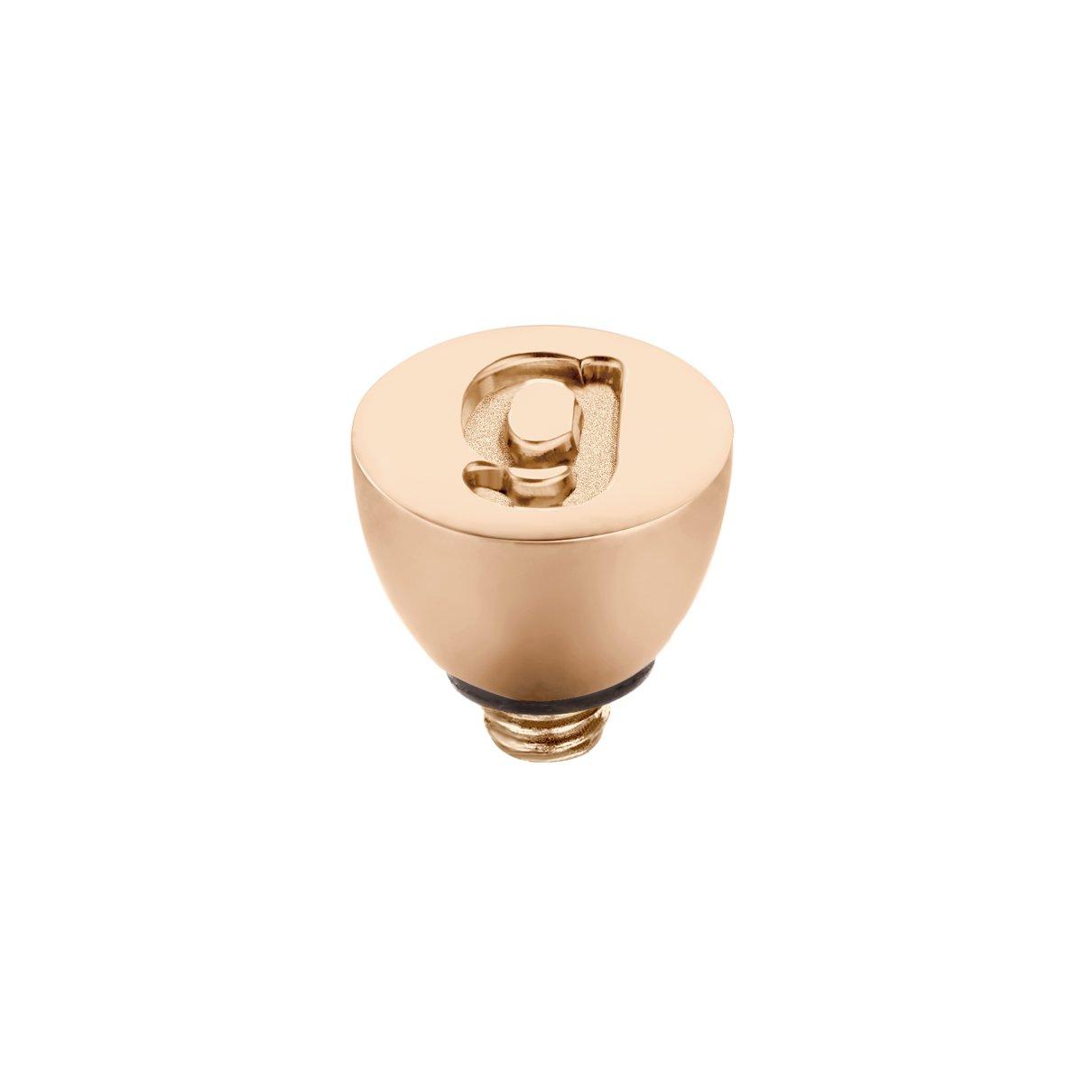 Melano Twisted steentje - letter G- dames - rosekleurig - 6 mm kopen