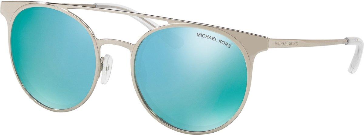 Michael Kors Grayton Teal Mirror Zonnebril 0MK1030 113725 52 - Zilver kopen