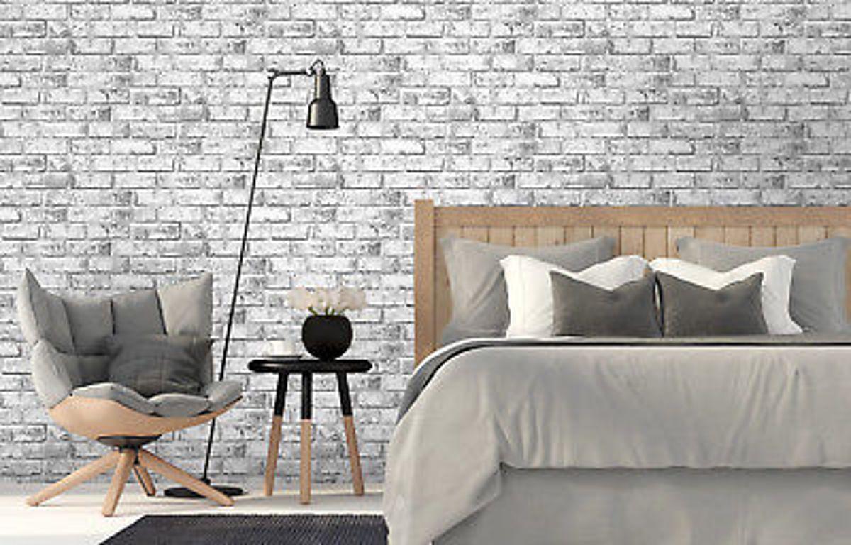 Bol.com steen behang wit grijs
