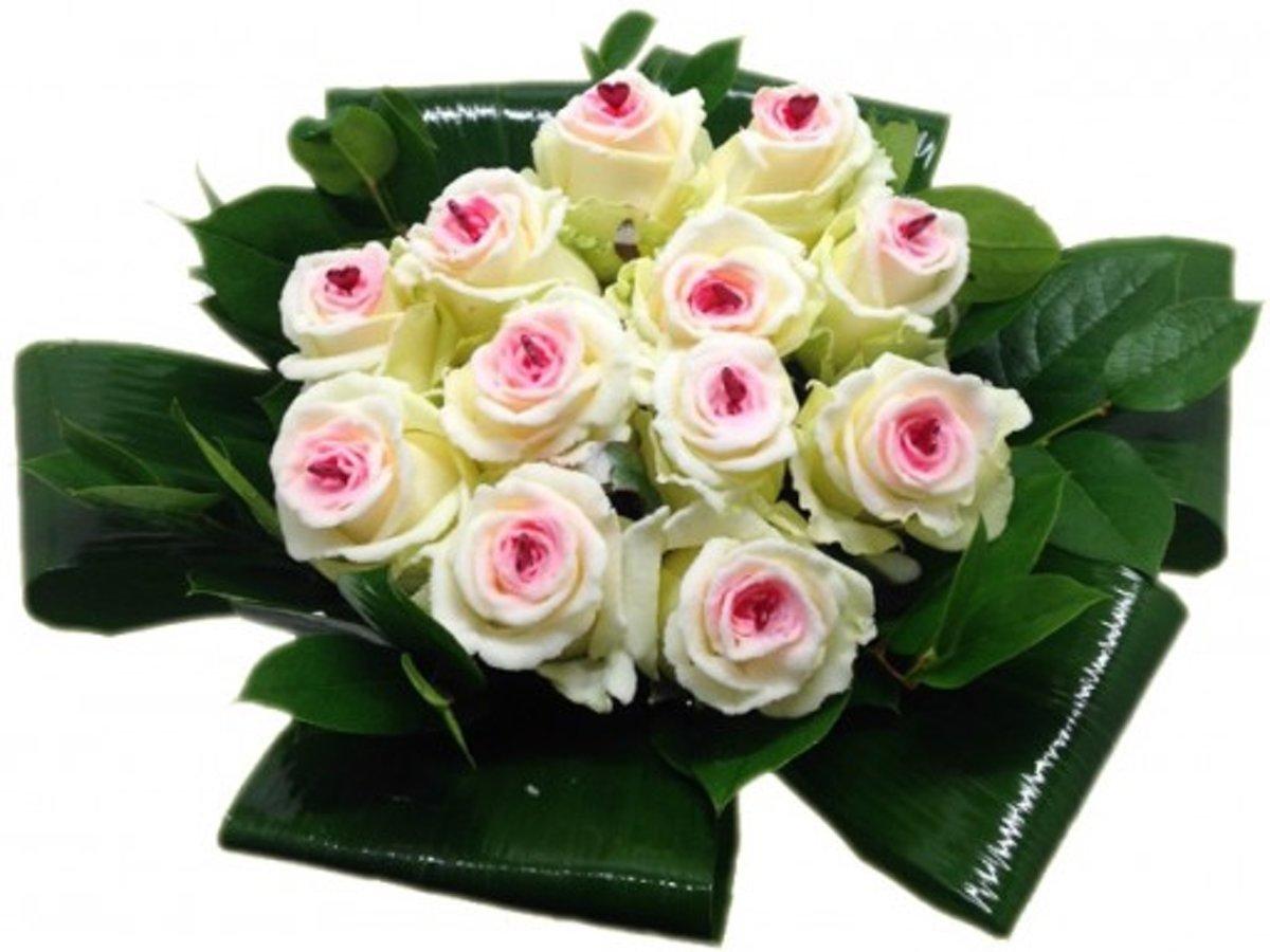 Boeket 12 Sugar Candy Love rozen kopen