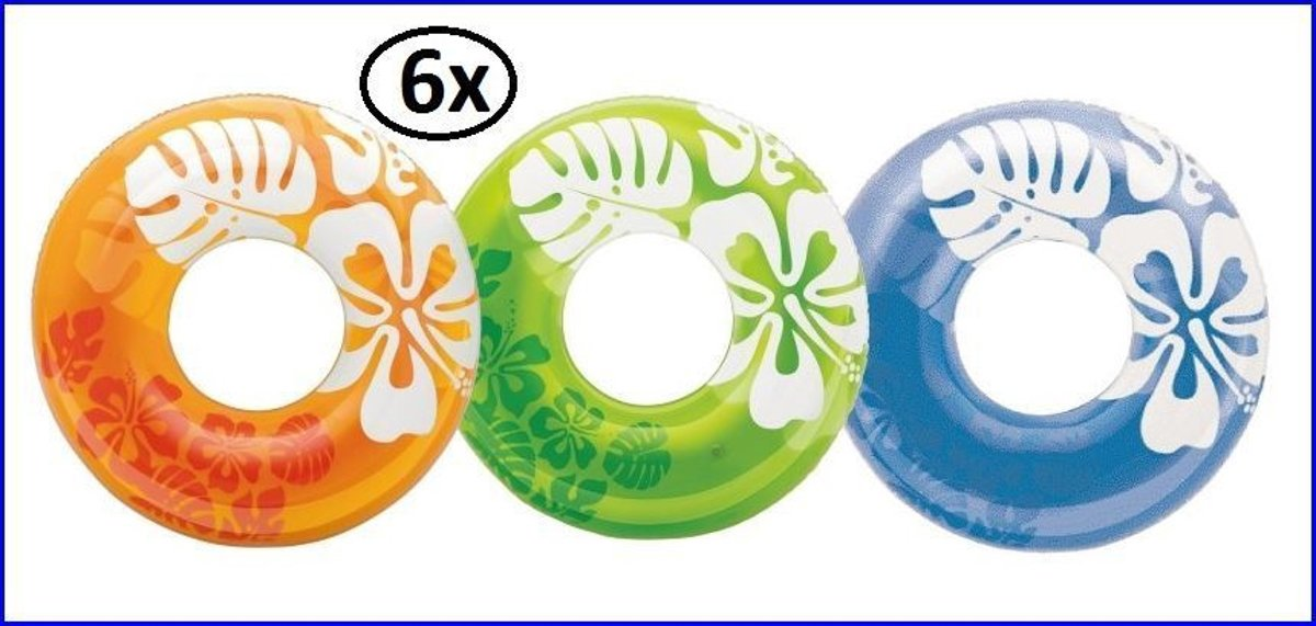6x Intex Giant band color zwemband 91 cm