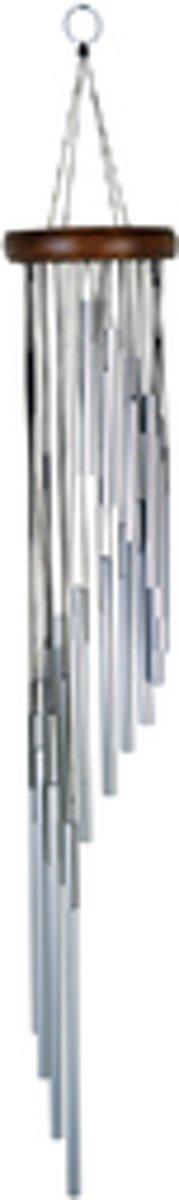 Nature's Melody Windgong Spiraal vormig zilver 89cm. - Windorgel - Instrument kopen