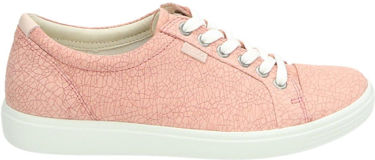 ECCO Soft 7 dames sneaker Roze Maat 38