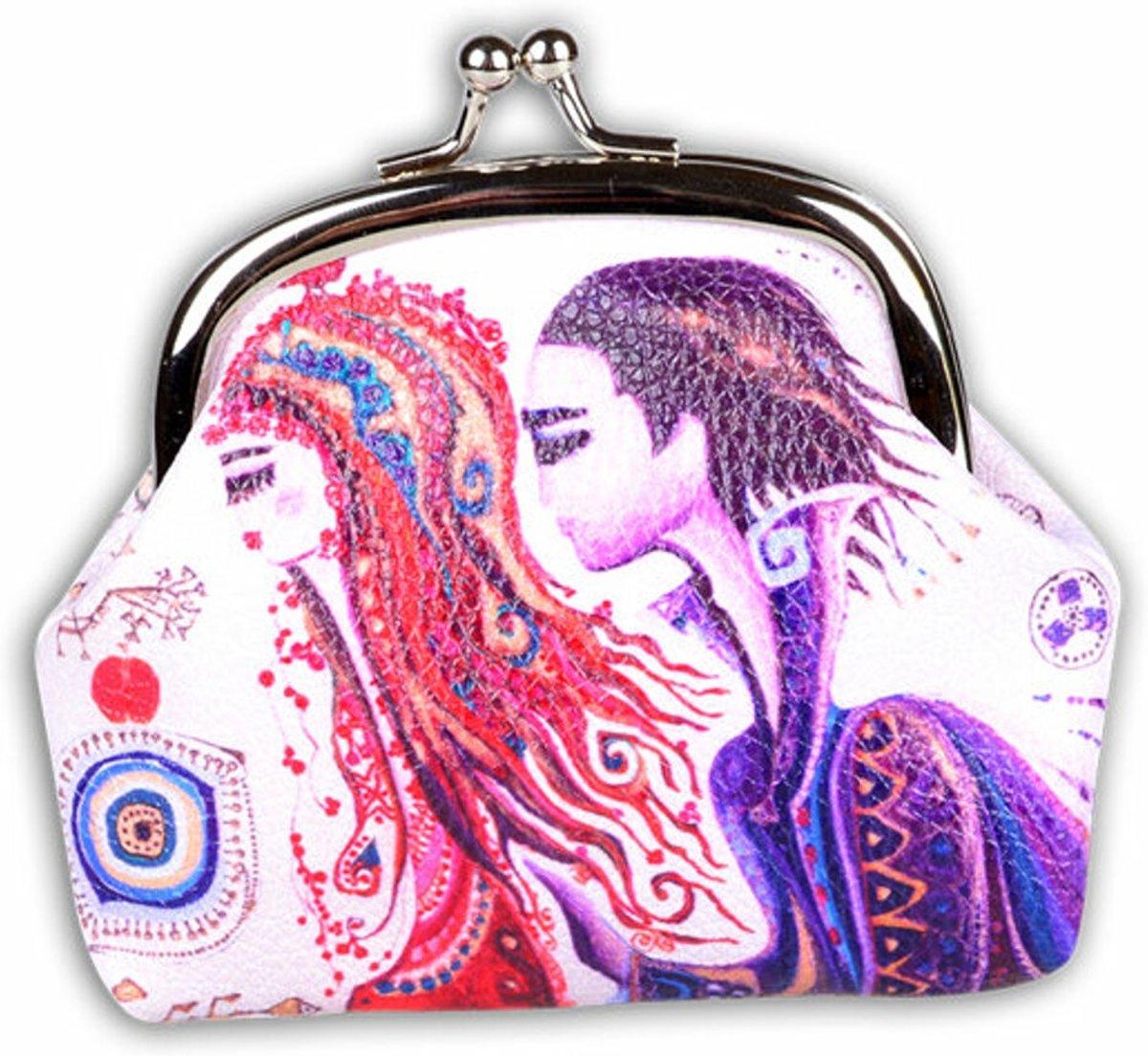 BiggDesign liefde Kleingeld Tas / Portemonnee , Speciaal Ontwerp , Trendvol voor Vrouwen , gemaakt van PU leer, 9.5 x 8 cm , Klein , Modieus , Kleurrijk kopen