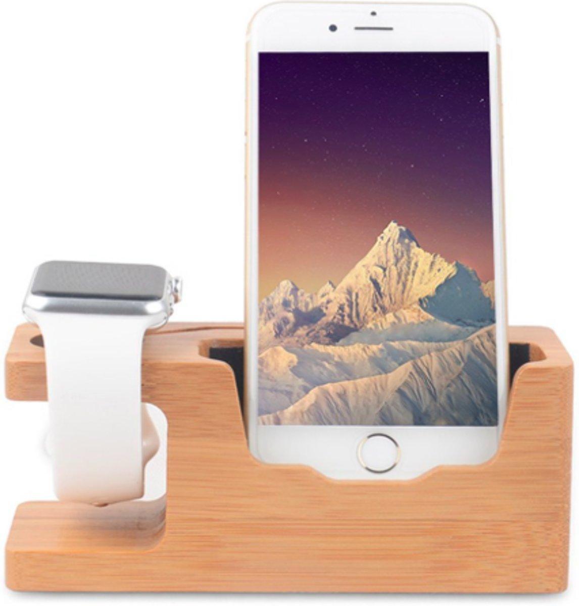 Houten Docking Laadstation Houder Standaard geschikt voor Apple Watch – Small kopen