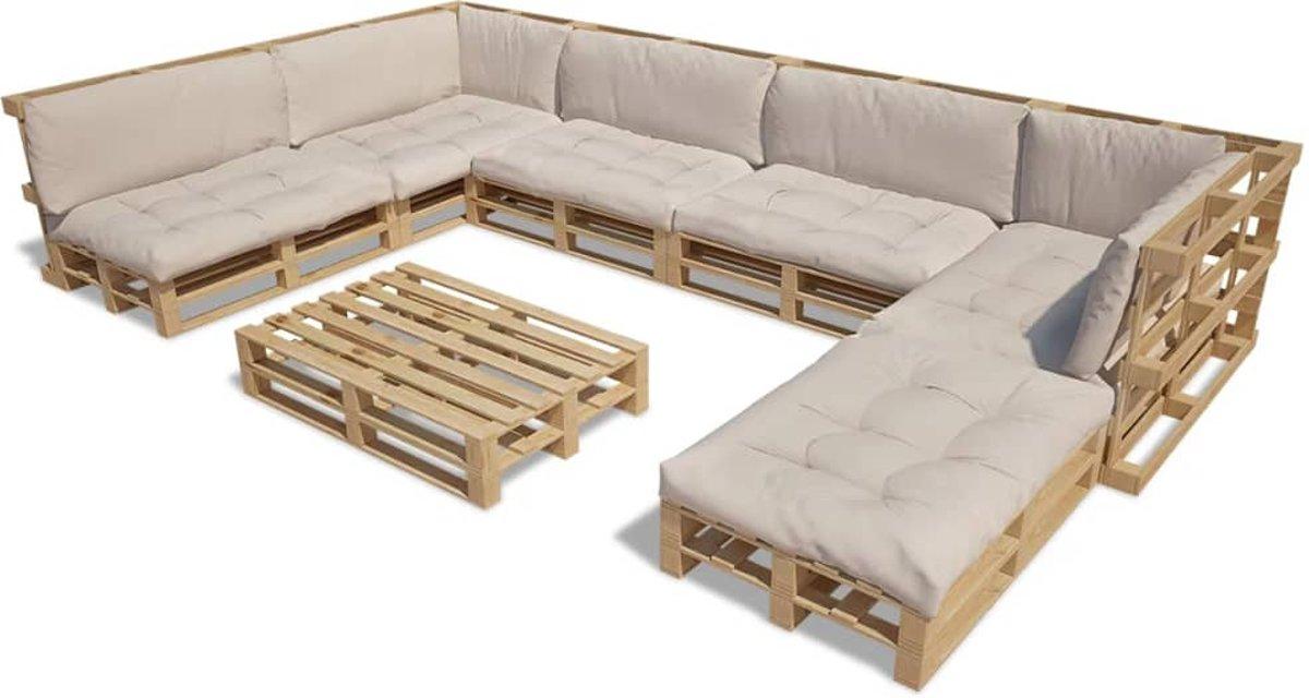 Kussen Wit 13 : Bol houten pallet lounge set voor buiten met delen