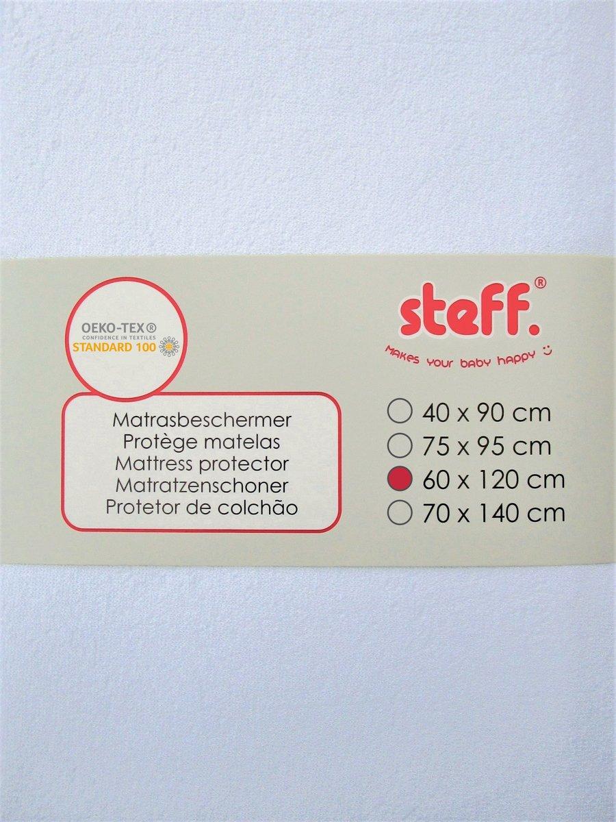 steff - matrasbeschermer - 60 x 120 cm - wit - met waterbestendige PU-laag met kwaliteitslabel OEKO TEX standard 100