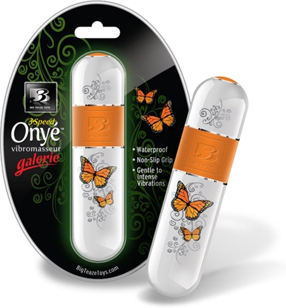 Foto van Big Teaze Toys B3 Onye Galerie Vlinder Vibrator - Oranje