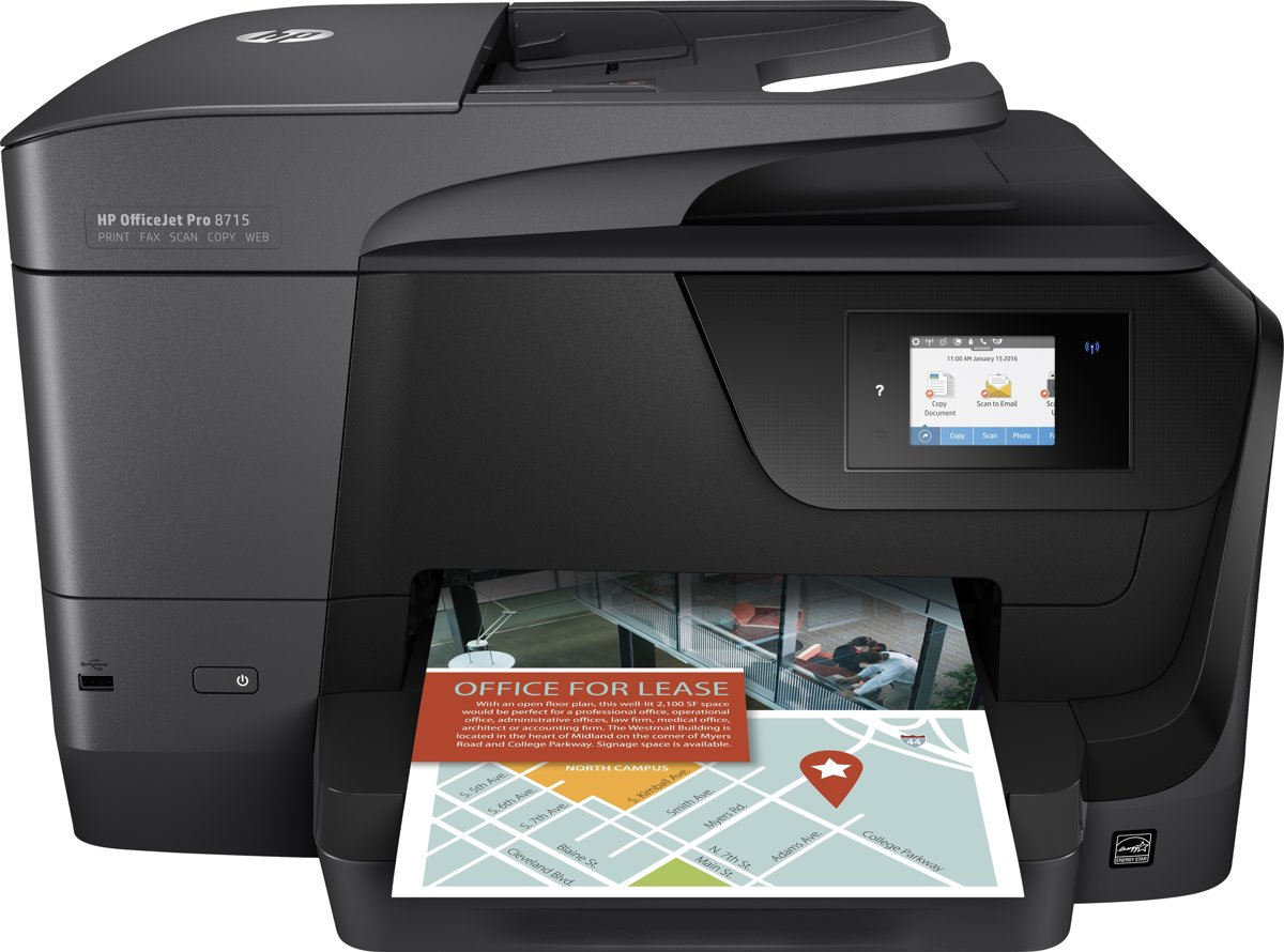 HP OfficeJet Pro 8715 - All-in-One Printer voor €89,79 d.m.v. cashback