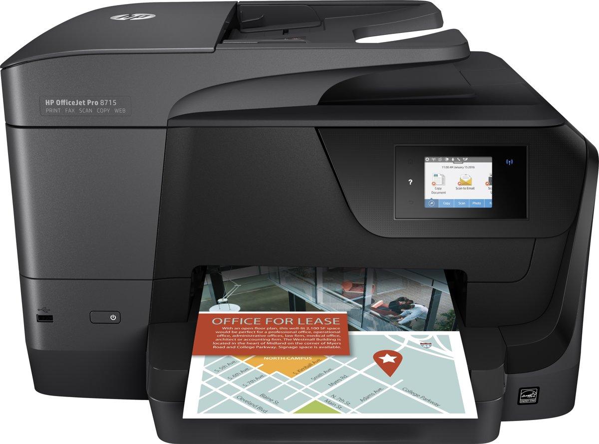HP OfficeJet Pro 8715 - All-in-One Printer voor €89,79 d.m.v. cashback