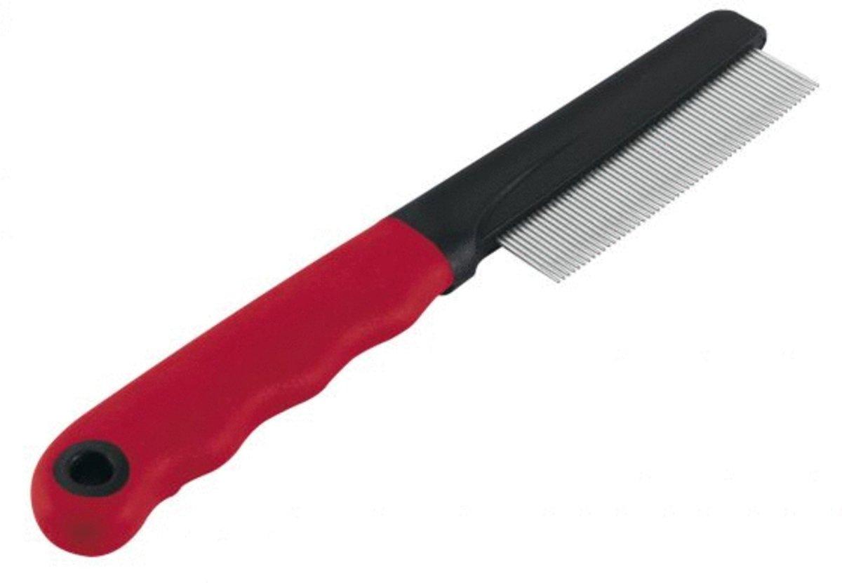 Ferplast Vachtkam Middel - Hondenvachtkam - 20x1.6x3.5 cm Rood Zwart kopen