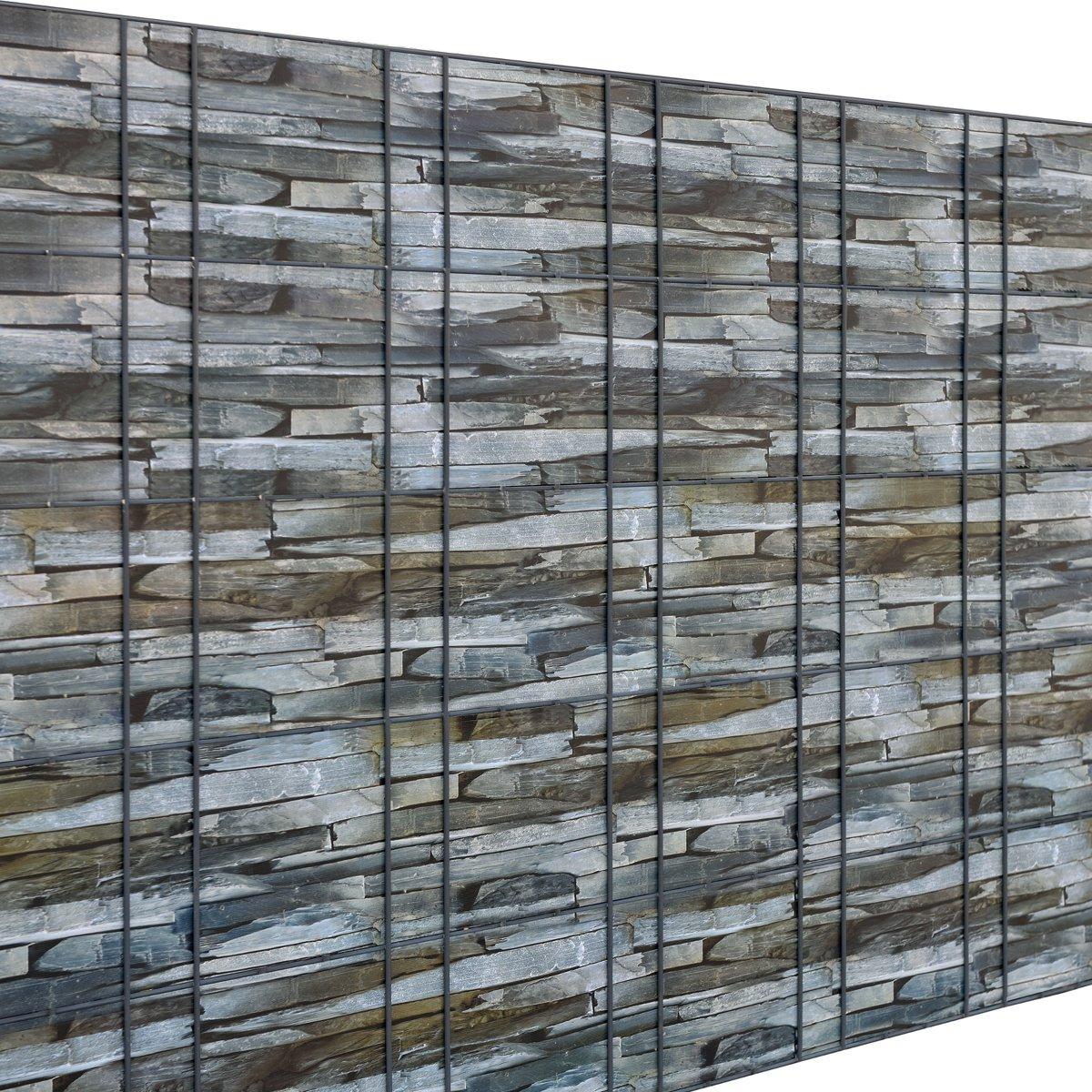 Privacyfolie voor hek - 35m - 19cm breed - bruin - listeenlook kopen